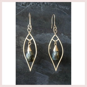 Regina Andrew Sophia Labradorite Gold Earrings for $48.00 at Jewelry and More