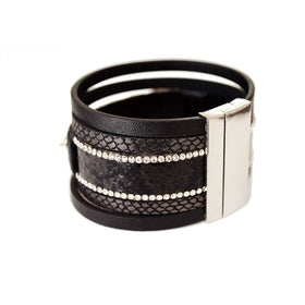 Ariel Leather Cuff Bracelet for $52.00 at Jewelry and More