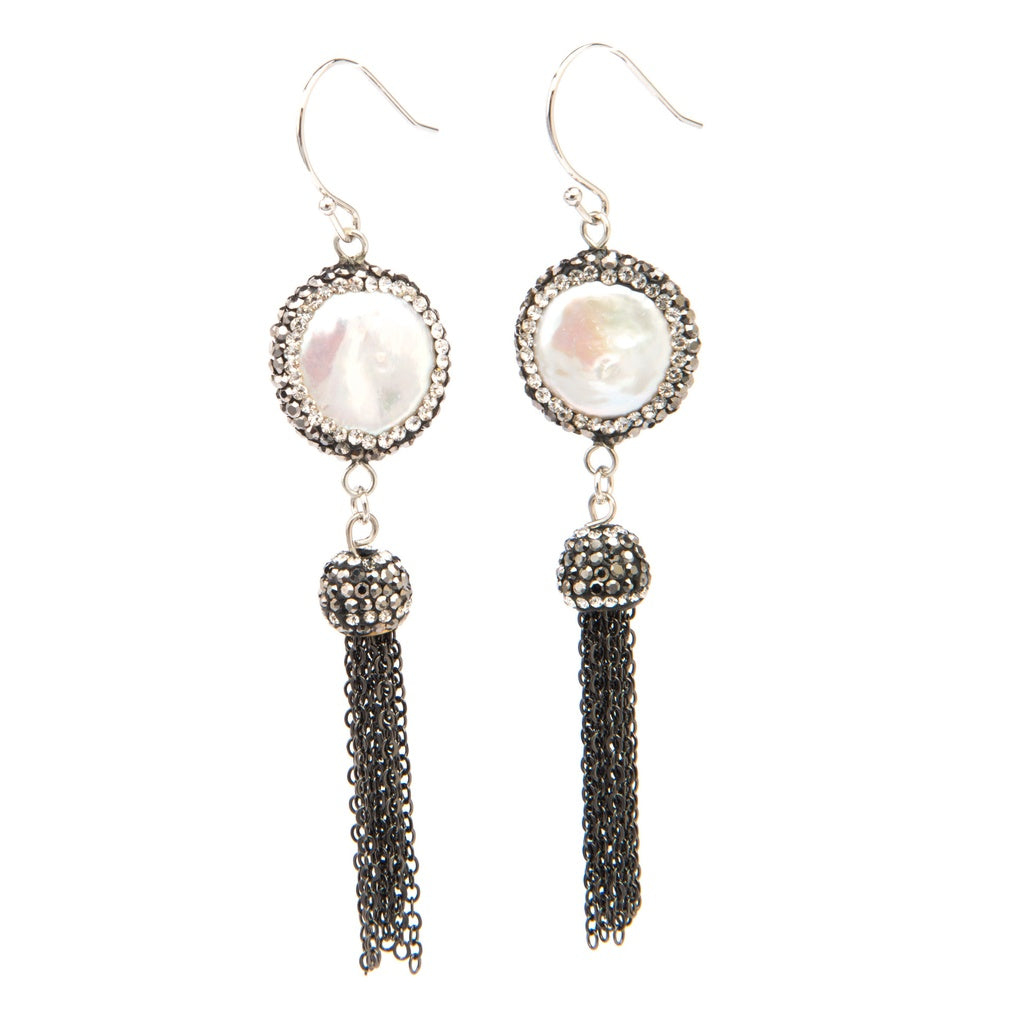 Sheba Coin Pearl Earrings for $60.00 at Jewelry and More
