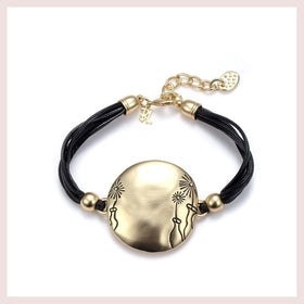 Dandelions Bold Gold Statement Bracelet-Jewelry and More
