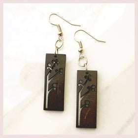 Coconut Rectangular Earrings for $20.00 at Jewelry and More