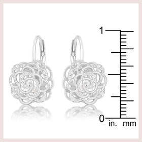 Silver Flower Cage Earrings for $44.00 at Jewelry and More