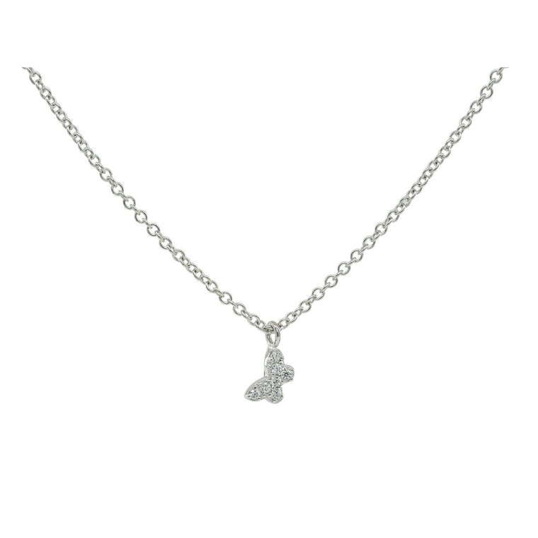 Fronay Mini CZ Butterfly Necklace in Sterling Silver