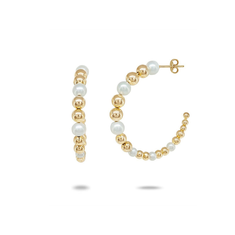 Degrade' Bubble Pearl Hoops