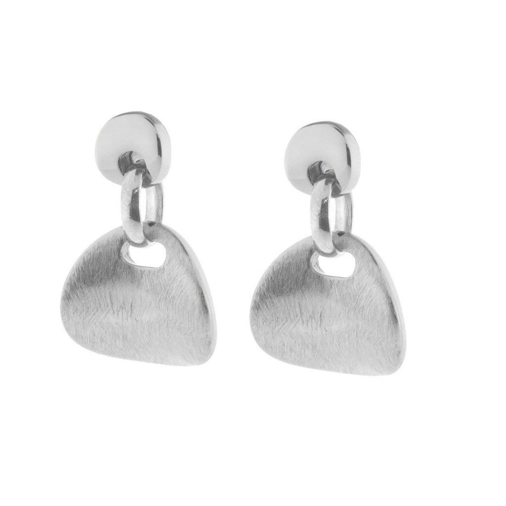 High Fashion Italian Earrings for Women Satin Finished Sterling Silver