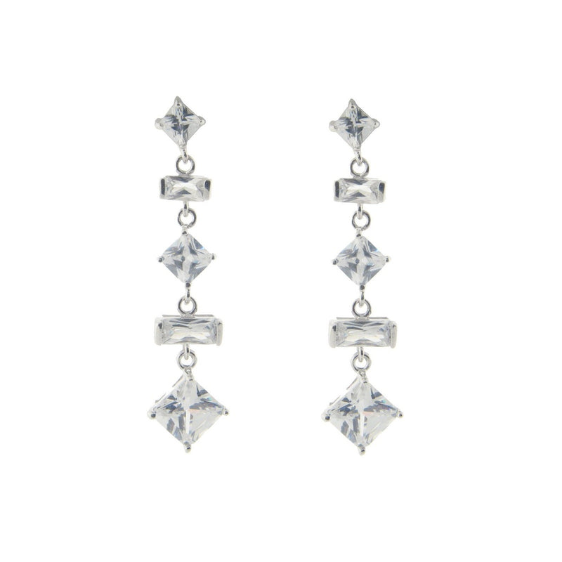 Multi Cut CZ Bridal Earrings