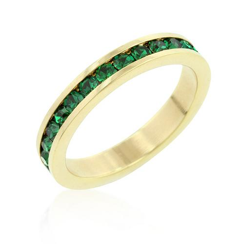 Stylish Stackables Eternity Green Crystal Ring for $12.00 at Jewelry and More