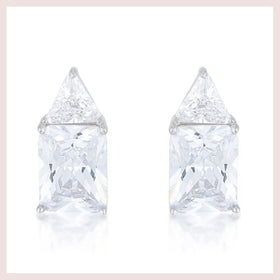 Clear CZ Sterling Silver Studs for $73.00 at Jewelry and More