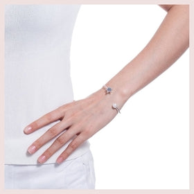 Charming Star & Pearl Charms Bracelet Cuff for $13.00 at Jewelry and More