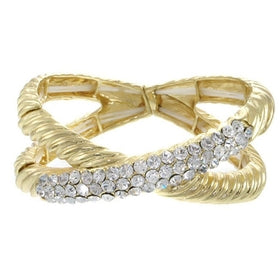 Cable Crystal Twist Stretch Bracelet-Jewelry and More