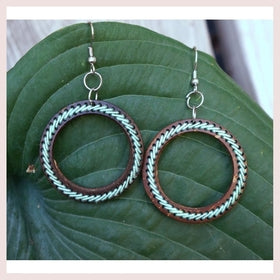 Aqua Threaded Hoop Earrings for $18.00 at Jewelry and More