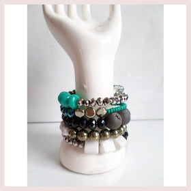 Black & Blue Boho Wrap Bracelet for $45.00 at Jewelry and More