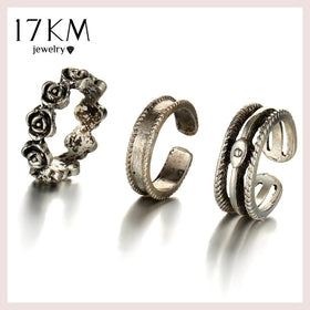 17KM Punk Style Sexy Retro Toe Ring Sets Party Rings for Women Man 2017 New Design Fashion Anillos Beach Hollow Out Foot Jewelry for $5.01 at Jewelry and More