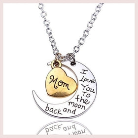 Moon & Heart Shape Necklace for $11.99 at Jewelry and More
