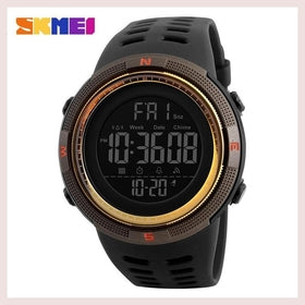 SKMEI Men Sports Watches Countdown Double Time Watch Alarm Chrono Digital Wristwatches 50M Waterproof Relogio Masculino 1251 for $24.99 at Jewelry and More