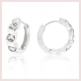 Triple Cubic Zirconia Hoops (pack of 1 ea) for $13.93 at Jewelry and More