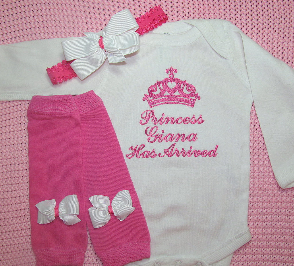 Princess Has Arrived Baby Girl Coming Home Outfit – BellaBabyBoutiques