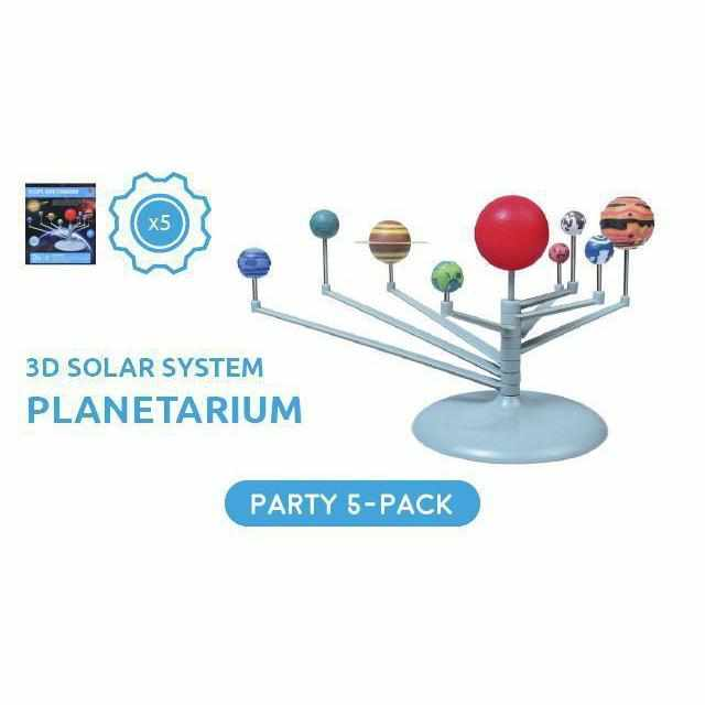 3D Solar System Planetarium Kit - Party Pack - 5 Kits-toy-Smart Kids Only