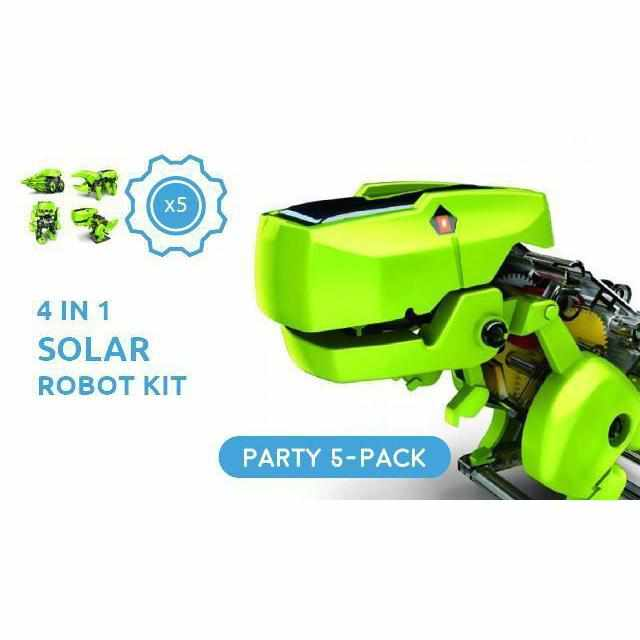 4 in 1 Solar Powered DIY Robot Kit - Party Pack - 5 Kits-toy-Smart Kids Only