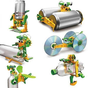 6 in 1 Solar DIY Soda Can Robot - Recycling Kit-toy-Smart Kids Only