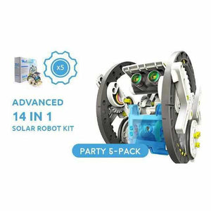 Advanced 14 in 1 DIY Solar Robot Kit - Party Pack - 5 Kits-toy-Smart Kids Only