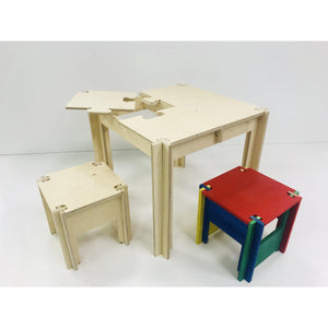 Kids DIY Puzzle Piece Table & Stools ||MADE IN USA||-Smart Kids Only