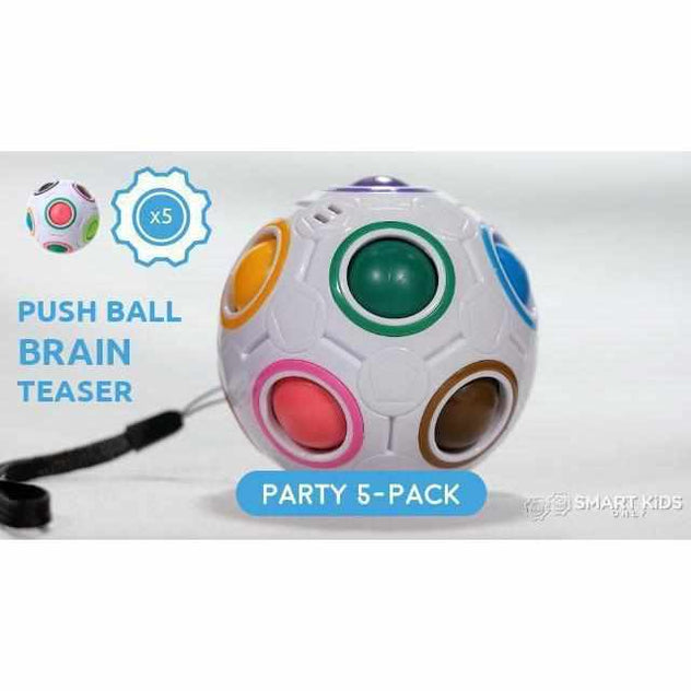 Multi-Color Push Ball Brain Teaser - Party Pack - 5 units-toy-Smart Kids Only