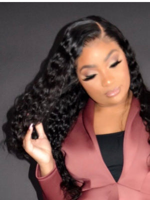 Lace Frontal Water Wave Wig ( Transparent)