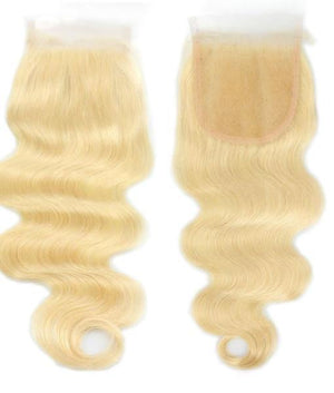 Russian Blonde Lace Closure body wave