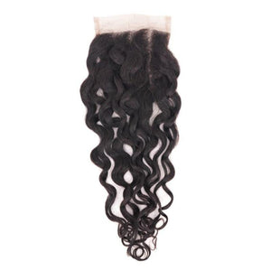 Mink Brazilian Spanish wave / Natural Lace Closure