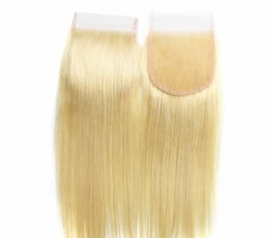 Russian Blonde Lace Closure straight
