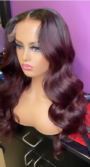 "Ready To Wear 22"" inch 5x5 HD Lace Closure wig with color"