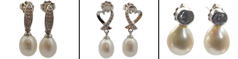 Freshwater Pearl Drop Stud Earrings