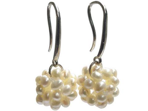 Multiple Pearl Cluster Earrings