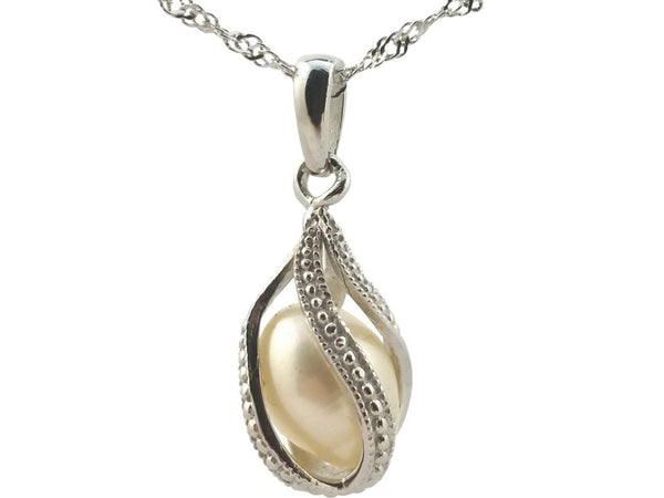 Freshwater Pearl Cage Pendant