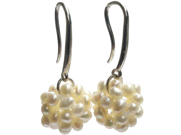 Freshwater Pearl Fine Cluster Earrings