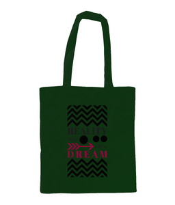 Shoulder Tote Bag - REALITY starts with a dream - fashion pattern