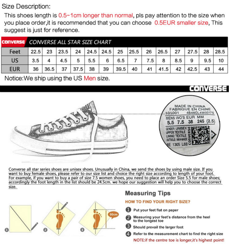Original Brand New Converse All Star Converse For Men Crowned Fashions