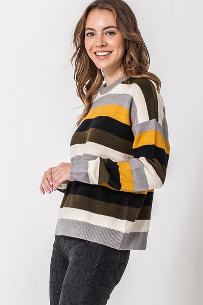 Mustard/Grey/Olive sweater