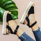 EMRY ESPADRILLE SANDALS IN BLACK
