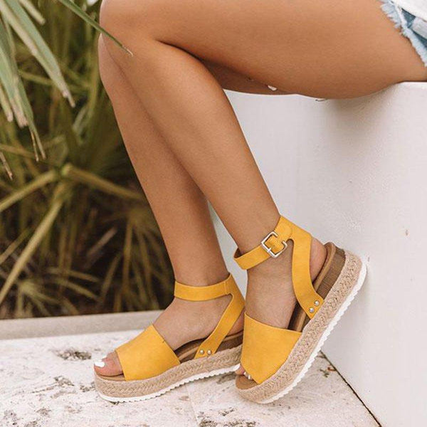 EMRY ESPADRILLE SANDALS IN YELLOW