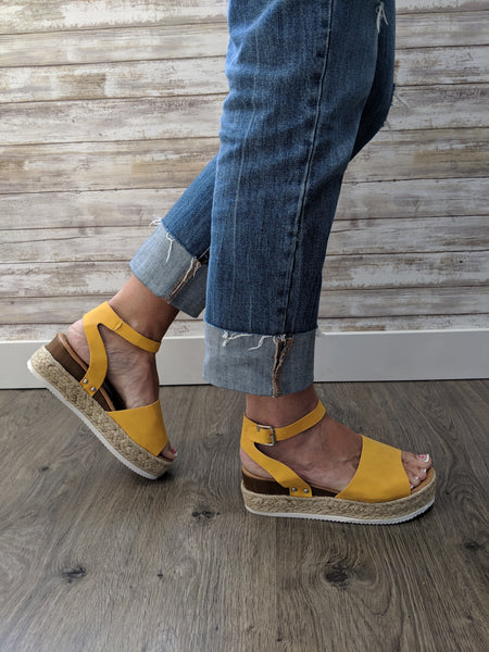 EMRY ESPADRILLE SANDALS IN BROWN