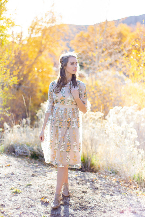 GOLDEN DAY MIDI DRESS