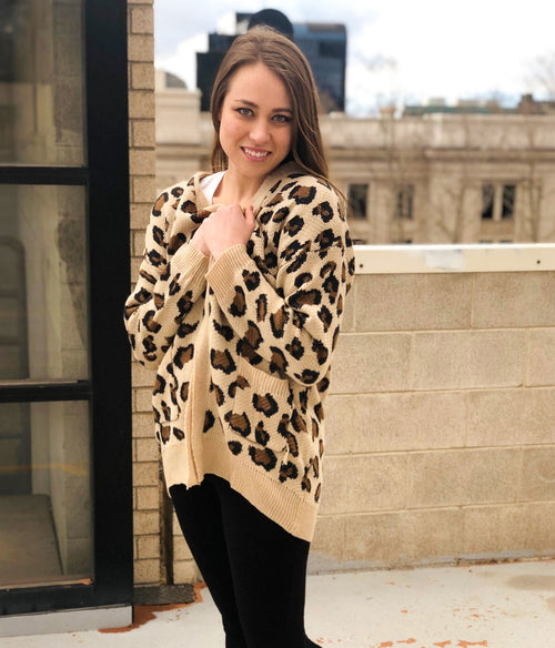 MIGHTY JUNGLE ANIMAL PRINT CARDIGAN