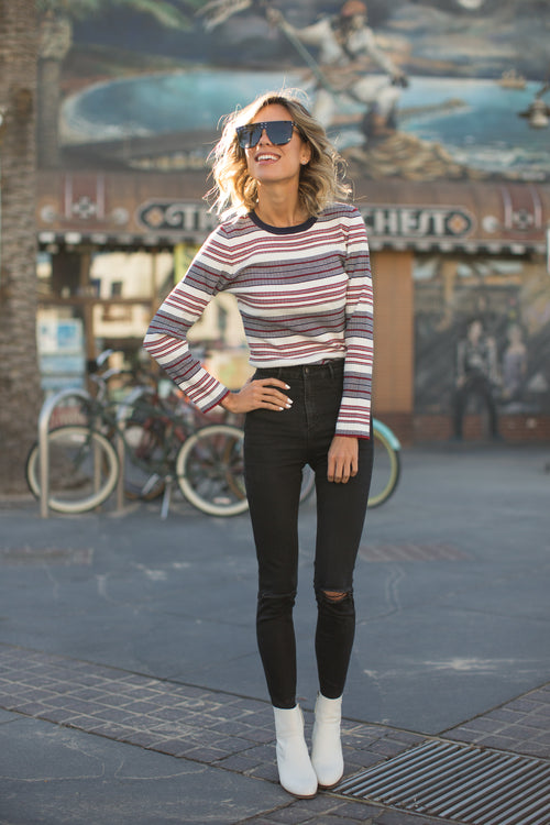 SKI BABE RIBBED SWEATER