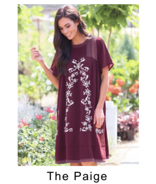 THE PAIGE MIDI EMBROIDERY DRESS