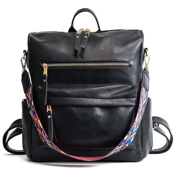 NIYA VEGAN LEATHER CONVERTIBLE BACKPACK BAG