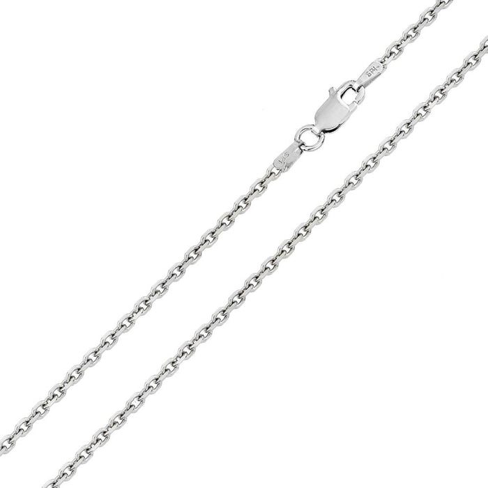 STERLING SILVER DIAMOND CUT CABLE ROLO CHAINS