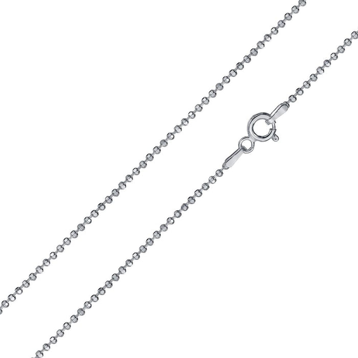 STERLING SILVER DIAMOND CUT BEAD CHAINS