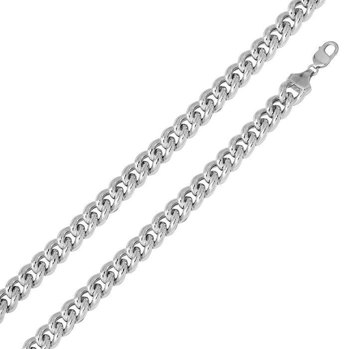 STERLING SILVER 925 HOLLOW CURB CHAIN